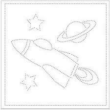 Olympus - Rocketship Sashiko Kit (SK274)