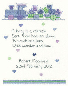 Sue Hill Collection - Baby Boy Pattern (SCBB1093)