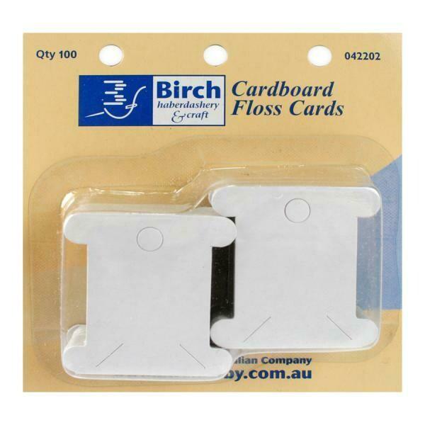 Birch Cardboard Floss Cards 100/pkt (042202)