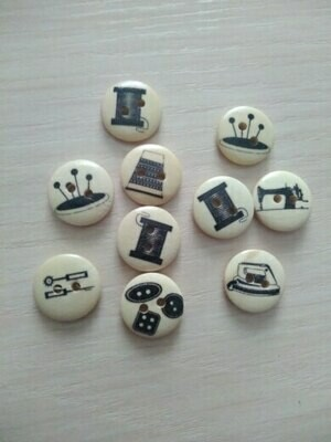 Timber Buttons - 15mm (4/pkt)