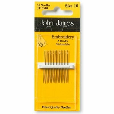 John James Embroidery #10 pkt (JJ13510)