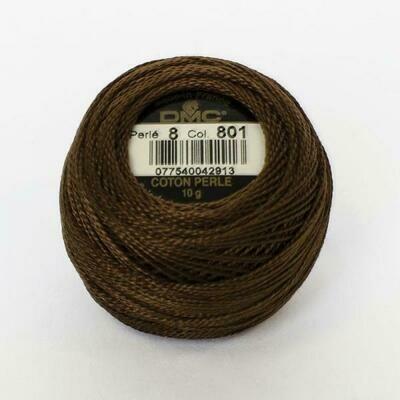 DMC116 Perle 05 Ball 0801 - Dark Coffee Brown