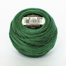 DMC116 Perle 12 Ball 0699 - Green