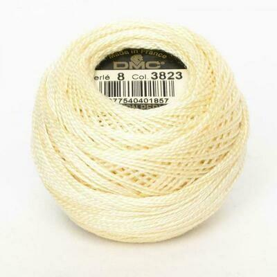 DMC116 Perle 12 Ball 3823 - Ultra Pale Yellow