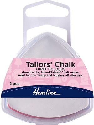 Hemline Tailors Chalk - White , Blue & Pink (250)