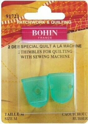 Bohin Silicon Finger Cots 2pc Med (91721)