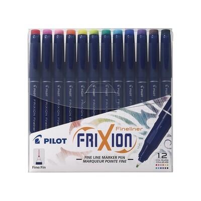 Pilot Frixion Fineline Pen Wallet - 12pkt