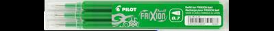 Pilot Frixion 0.7 Pen Refills 3pkt - Green