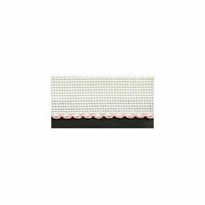 Aida Band 30mm White / Pink Trim (7003.14) /10cm increments