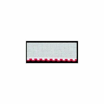 Aida Band 50mm White / Red Trim (7107.19) /10cm increments