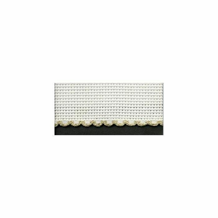 Aida Band 30mm White / Gold Trim (7003.181) /10cm increments