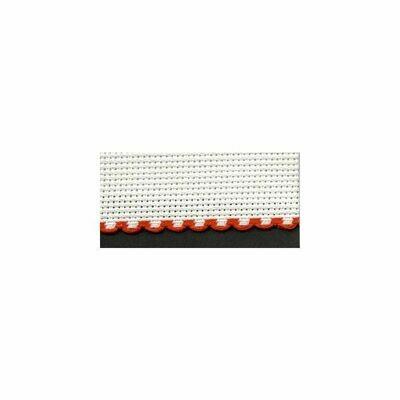 Aida Band 30mm White / Red Trim (7003.19) /10cm increments