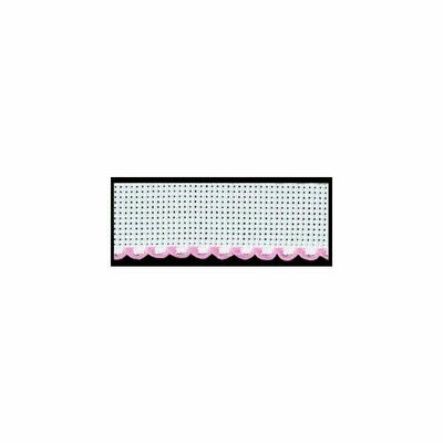 Aida Band 50mm White / Pink Trim (7107.14) /10cm increments