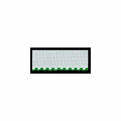 Aida Band 50mm White / Green Trim (7107.166) /10cm increments