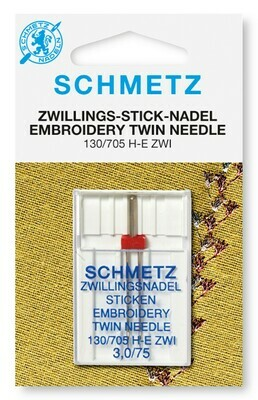 Schmetz Embroidery Twin - 2.0/075