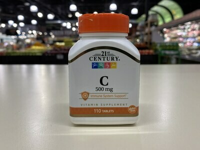 21st Century Vitamin C 500mg Tablets (110 count)