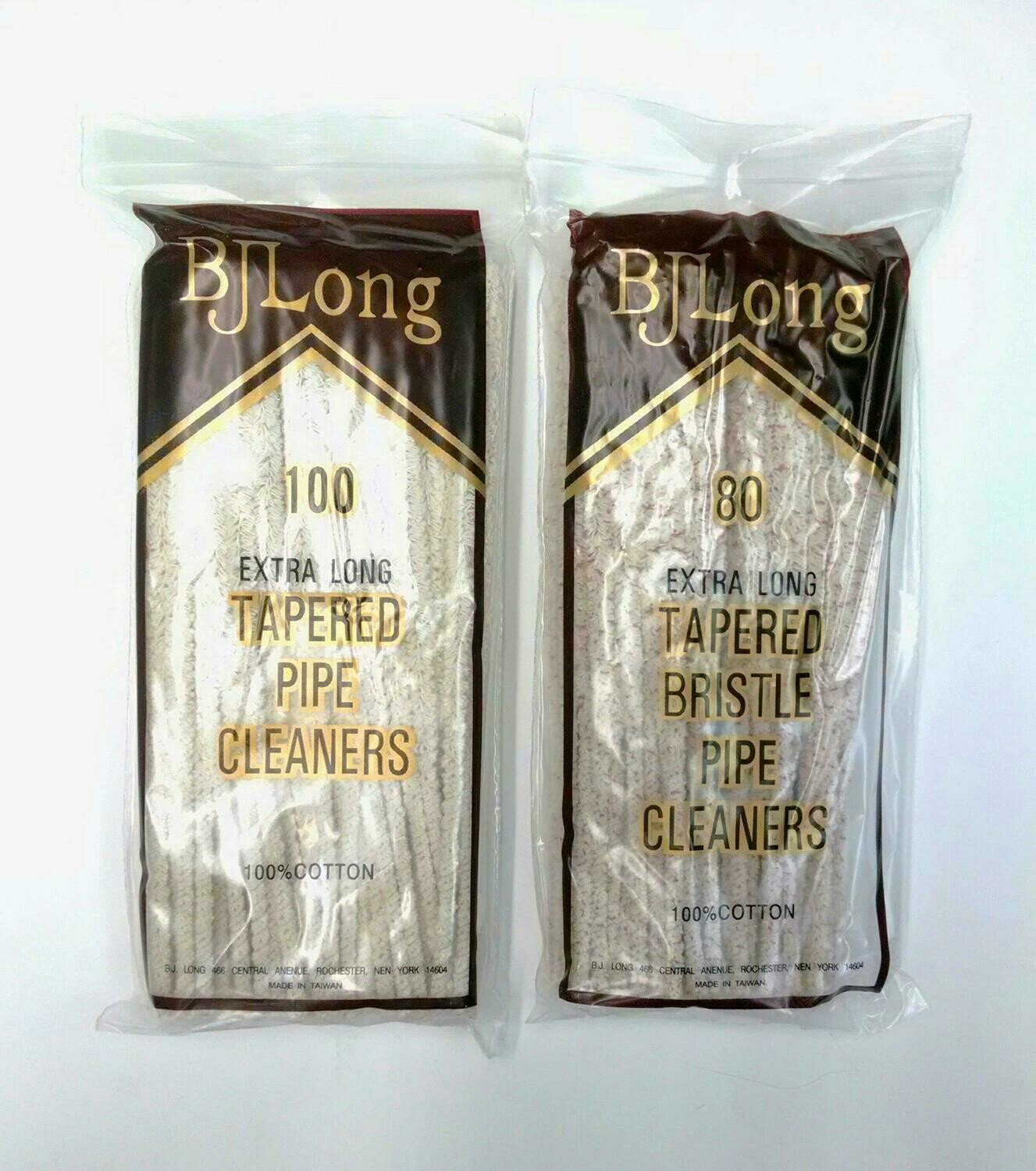 B.J. Long Extra Long Tapered Regular or Bristle Pipe Cleaners
