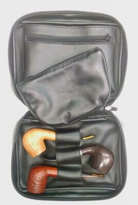 Leather Pipe Travel Case