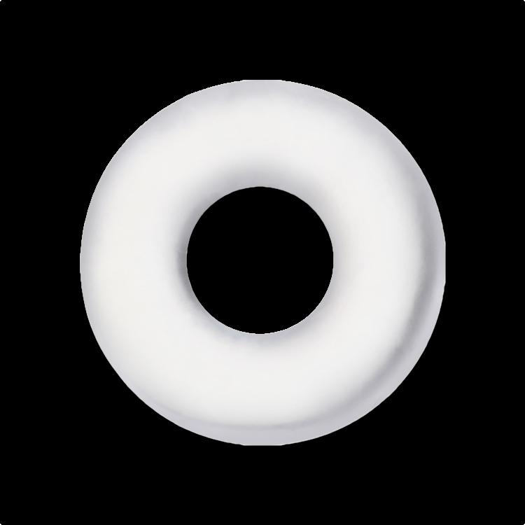 "1 7/8"" Clear Doughnut Cock Ring"