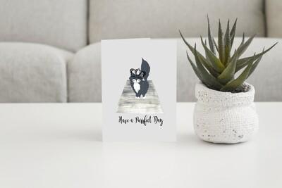 Personalised Animal Lovers Greetings Card. Catwalk
