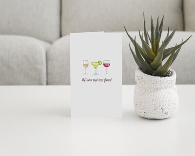 Cocktail Glasses Greeting Card