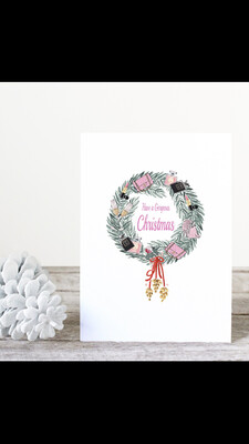 Designer Wreath Christmas Cards. Box Of 20