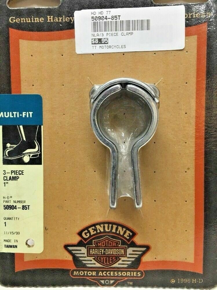 "Harley-Davidson 3-Piece 1"" Chrome Clamp (50904-85T)"