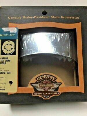 Harley-Davidson Chrome Tail Lamp Visor, 80-Up FX Models (68012-88T)