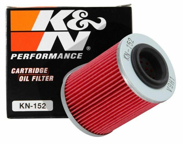 K&N Cartridge Oil Filter, Can-Am, CFMOTO, Ski-Doo, Aprilia (KN-152)