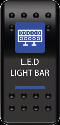Moose Lightbar Switch Rocker Blue (0616-0328)