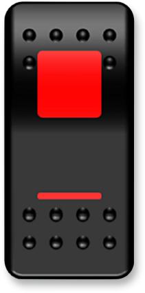 Moose On/Off Switch Rocker Red (2106-0413)
