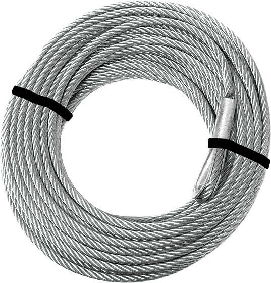 """KFI Steel Winch Cable 2500-3500lb Replacement 3/16"""" x 45.9' (ATV-CBL-3K, 30-0072)"""