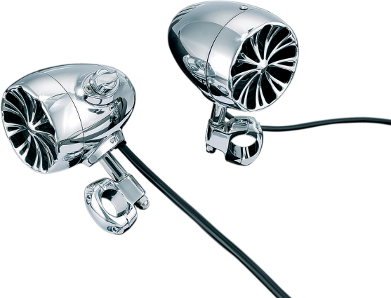 "Kuryakyn Sound of Chrome Amplified Speakers, 1"" Bars H-D, Metric (852)"