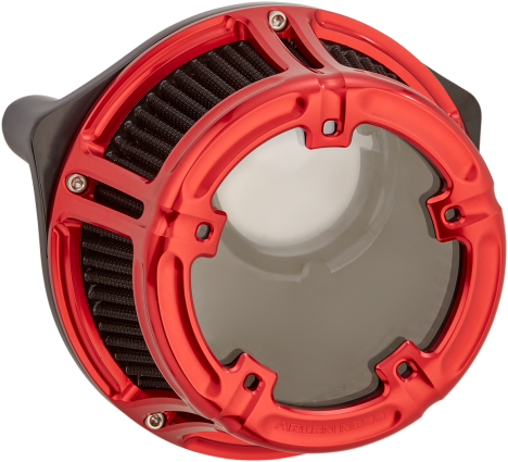 Arlen Ness Method Air Cleaner Red, 08-16 FLT (18-171, 1010-2531)