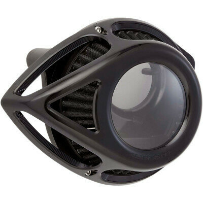 Arlen Ness Air Cleaner Clear Tear Black, 00-17 Twin Cam (18-979, 1010-2557)