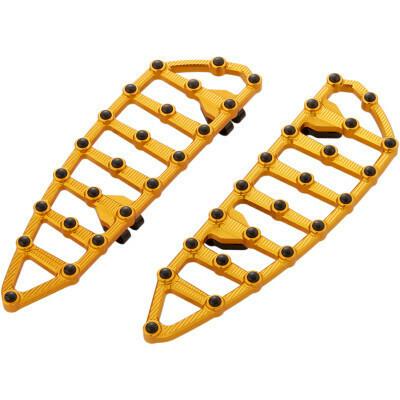 Arlen Ness MX Driver Floorboards Gold (06-894, 1621-0945)