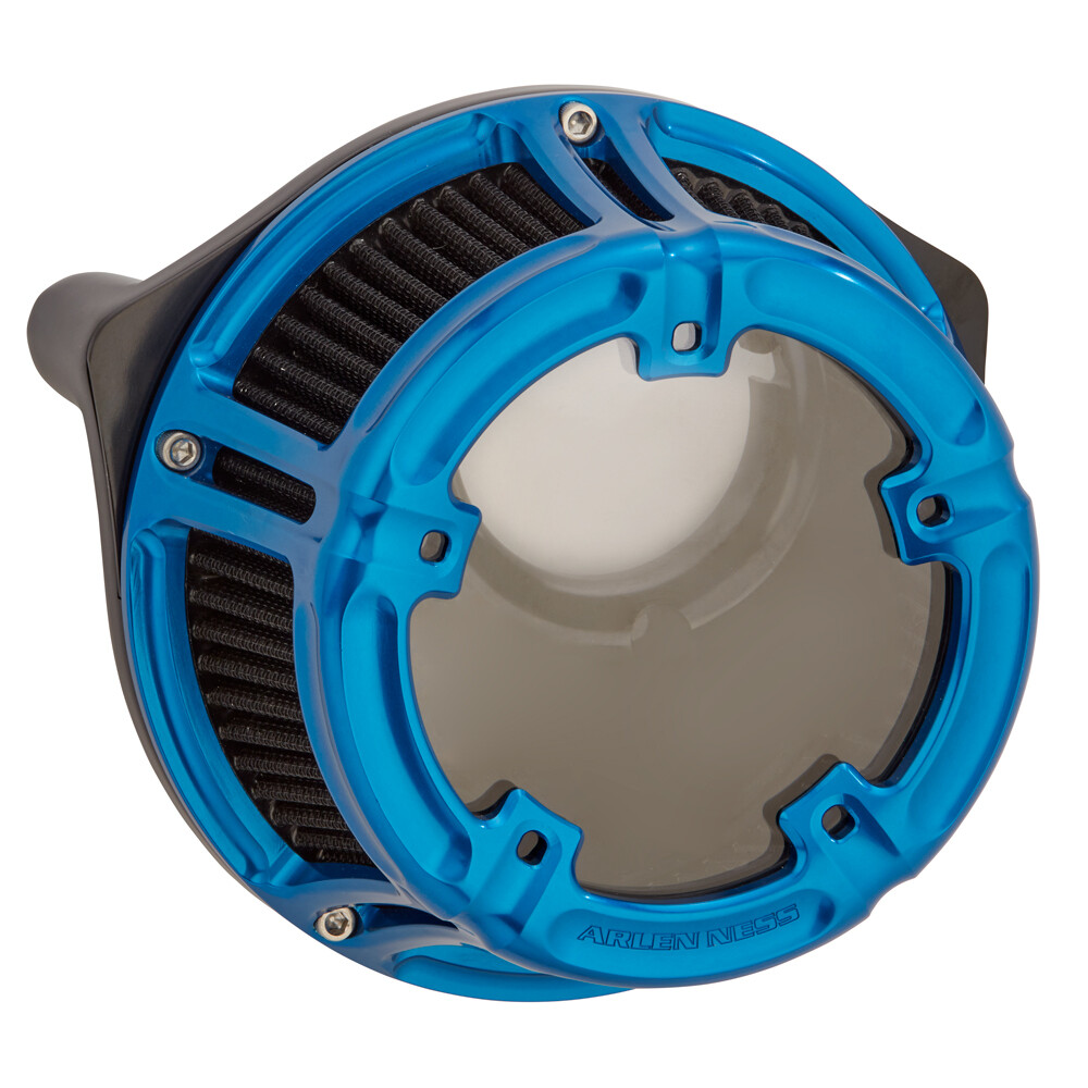 Arlen Ness Method Air Cleaner Blue, 91-Up XL Sportster (18-183, 1010-2541)