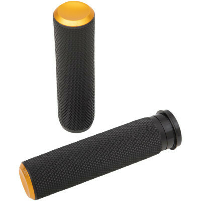 Arlen Ness Knurled Grips Gold, TBW (07-347, 0630-2598)