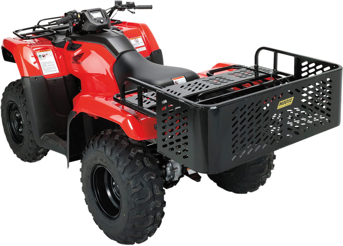 Moose ATV Rear Drop Rack Utility Bed, Black (1512-0218)