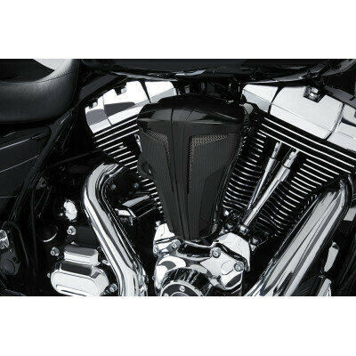 Ciro Cipher Black Carbon Air Cleaner Kit, 08-17 Harley Touring (35102, 1010-1872)