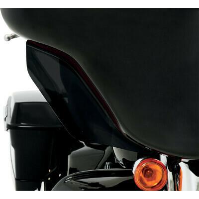Memphis Shades Black Wind Deflectors, Harley FLH (MEM7201, 2350-0190)