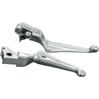 Kuryakyn Chrome Boss Blade Levers, 08-13 Harley Touring (1057, 0610-0615)