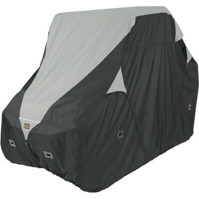 Classic QuadGear UTV Large Storage Travel Cover, Black/Grey (18-064-043801-0, 4002-0086)