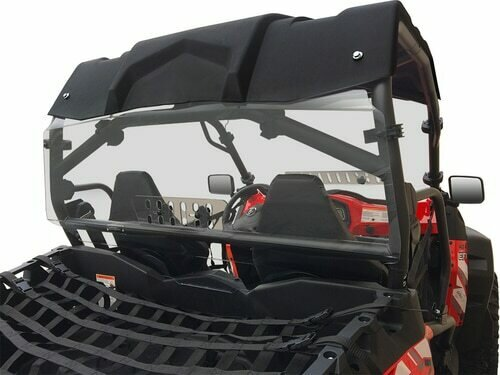 Spike CFMOTO ZFORCE Rear Windshield w/Vent (77-3202V-R, 63-1168)