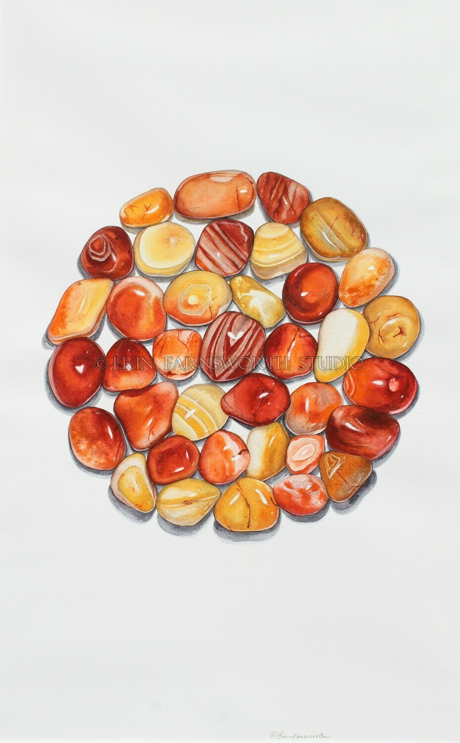 """Carnelian Agate Circle"" 11x17 limited edition print"