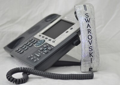 Office Phones made with crystals from Swarovski