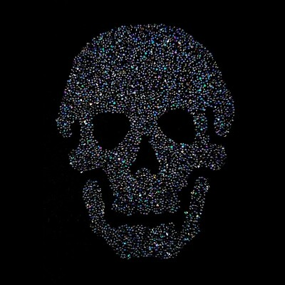 Swarovski Skull Crystal Rock Iron-On Transfer