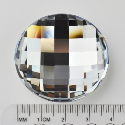 #2035 Crystal CASI I V Chessboard Circle 40mm (1 pc)