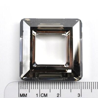 #4439 Crystal Satin CAL 'V' SI Square Ring 30mm (1 pc)