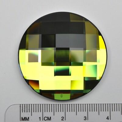 #2035 Crystal Sahara Chessboard Circle 40mm (1 pc)